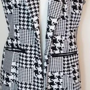 NY Collection Jackets & Coats - NY Collection Houndstooth Tunic Vest